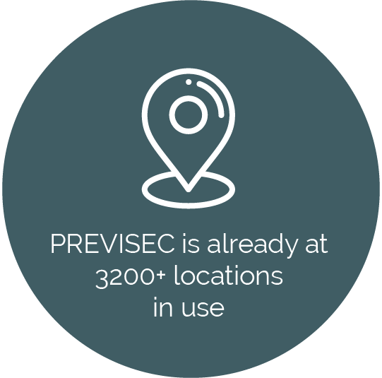 PREVISEC is already at more than 3200 locations in use every day